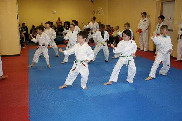picture of kids training